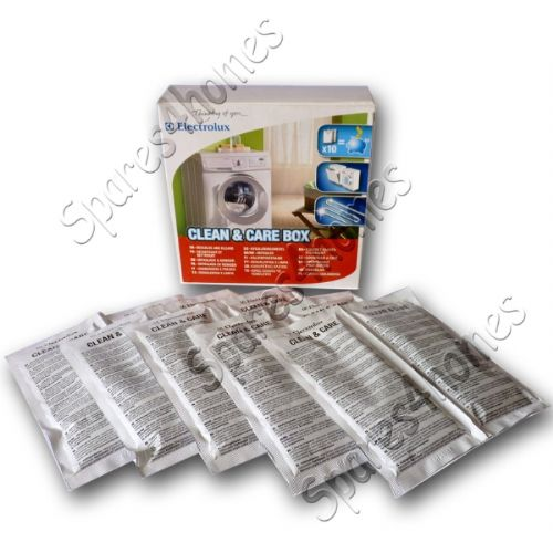 Electrolux Washing Machine And Dishwasher Cleaner & Descaler 10 X 50G